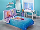 Disney Frozen Inch Magical Sisters Inch Toddler Bedding Set, Pink, Purple, Blue, 3 Pack