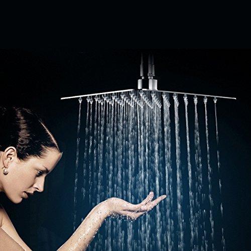 Yakult 10 pollici soffione doccia acciaio inox bagno soffione pioggia doccia montaggio a parete quadrata SRSH1003