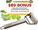 Julienne & Vegetable Peeler - Premium Quality Stainless Steel - Use As A Slicer, Shredder, Shaver, For Potato, Carrot, Zucchini, Apple Or Other Veggie/Fruit - Best Lifetime Guarantee - BONUS MealEasy Online Subscription w/ 1000s of Recipes!