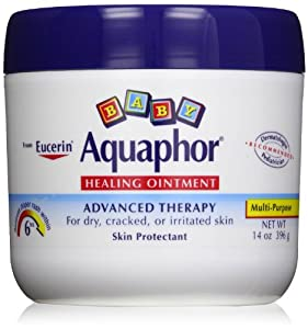 Aquaphor Baby Healing Ointment Diaper Rash and Dry Skin Protectant, 14 Ounce (Pack of 3 Jars)