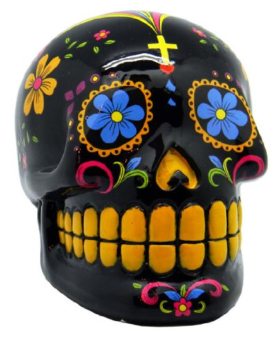 Black Day of the Dead Skull Bank - 1