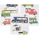 Now Designs Printed Floursack Tea Towels, Food Trucks Print, Set of 3
