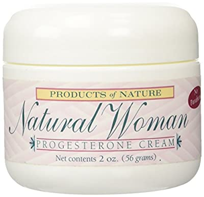 Natural Woman Progesterone Cream By Products of Nature. Technologically Advanced Natural Alternative to Hormone Replacement Therapy, Treats Menopause Symptoms, Reduces Hot Flashes, & Night Sweats. Great for Pregnant Women and Reducing Stretch Marks! 2oz