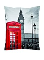 Sitting Bull Puff Grande Sb Super Bag London Gris/Rojo