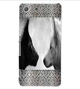 ColourCraft Wolfs Design Back Case Cover for SONY XPERIA M5 E5603 / E5606 / E5653