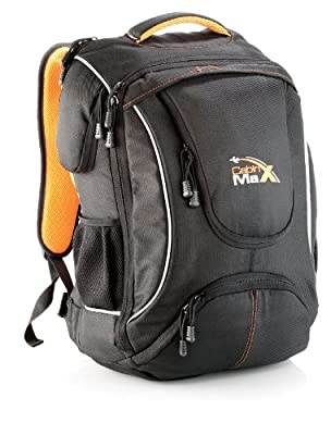 "Cabin Max City Flight Approved Carry on Backpack - massive 44l capacity. Includes an extra padded section for up to a 17"" Laptop by Cabin Max"