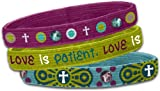 Bracelet-Stretch Bangle-Love (Set Of 3)