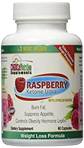 Pure Raspberry Ketone Plus African Mango Natural Weight Loss, Fat Burning Supplement and Appetite Suppressant, 500 mg, 30 Day Supply,  Satisfaction Guarantee