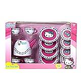 Hello Kitty Tin Tea Set Parety Pink Cups,Teapot Saucers PINk *FREE GIFT* by zeenca