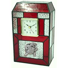 Maryland Terps Stained Glass Desk Clock by Traditions Artglass