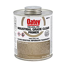 Oatey 30774 LO-VOC NSF Listed Industrial Grade Clear Primer, 32-Ounce