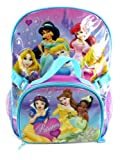 Purple Disney Princess Backpack with Lunch Bag - Full Size Disney Princess Backpack