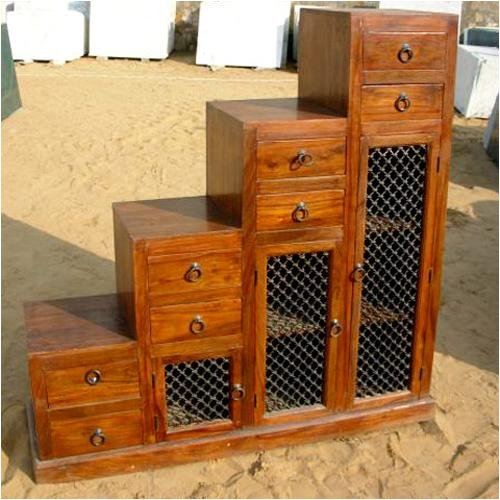 Buy Low Price sierralivingconcepts Wooden Step Drawer Storage Chest Cabinet Curio Buffet (B000Z6NSD0)