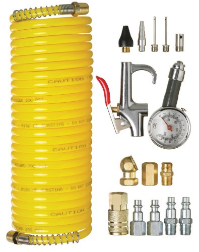 PORTER-CABLE P16ACK 16-Piece Air Tool Accessory Kit with Hose