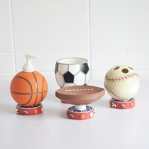 Brandream cute sports basketball bathroom accessories for A bathroom i can play baseball in