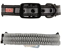 Kong Paracord Adjustable Collar Grey S