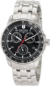 Nautica N13554G - Reloj de pulsera hombre, acero inoxidable, color plateado