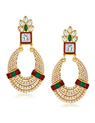 Sukkhi Divine Gold Plated Australian Diamond Earrings