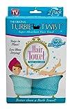 Turbie Twist Microfiber Hair Towel 2 Pack Light Aqua  Dark Aqua