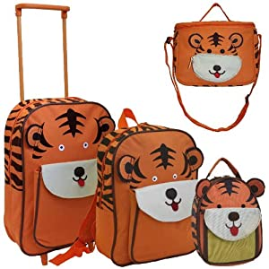 Karabar Set of 4 Super Lightweight Kids Bags (Tiger)