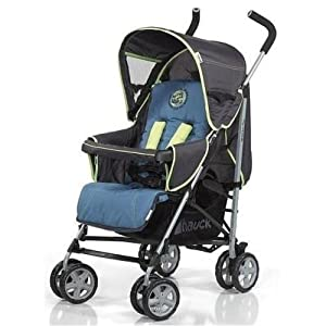 HAUCK Pram Speed Sun + Shop n Drive Combo - Stroller + Car Seat Happy World Blue