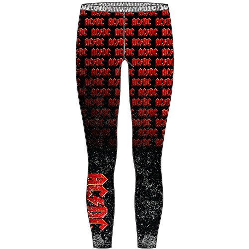 AC/DC -  Leggings  - Donna red-black Large