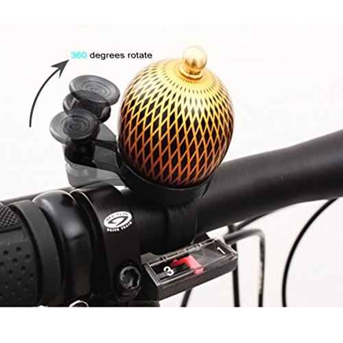 M-BLANC Mini Retro Bicycle Bell Round Handlebar Mount Copper Cover Safety Warning Bike Horn Bell 3