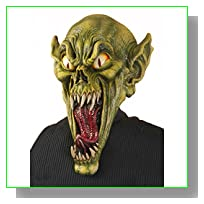 Forum Novelties Men's Gremlin Monster Costume Mask, Green, One Size
