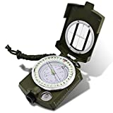 Multifunctional Waterproof Compass, DLAND Military Metal Army Sighting Compass with Inclinometer for Camping, Hiking and other Outdoor Activities.( Army Green )
