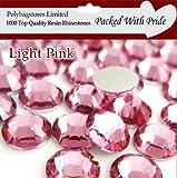 Pack of 1000 x Light Pink Crystal Flat Back Rhinestone Diamante Gems 5mm