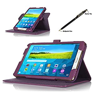 ProCase Samsung Galaxy Tab S 8.4 Dual View Case (horizontal and vertical display) - Rotating Cover Case with Stand exclusive for 2014 Samsung Galaxy Tab S (8.4 inch, SM-T700) Tablet (Purple) from ProCase