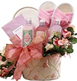 Art of Appreciation Gift Baskets   Perfectly Pampered Pink Spa Bath and Body Set