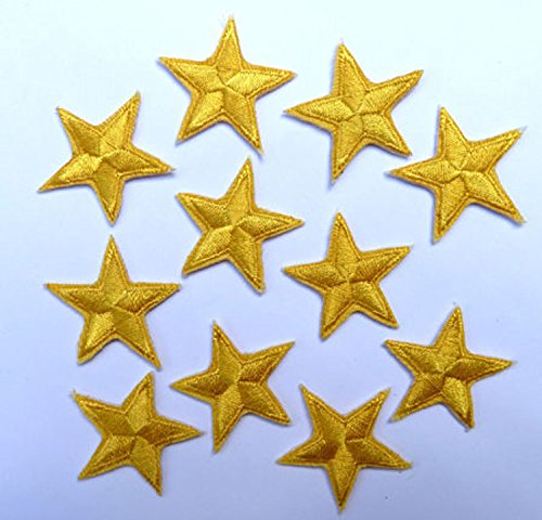 pack-of-10-yellow-iron-on-or-sew-on-star-patch-applique