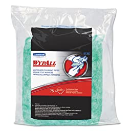 KIMBERLY-CLARK PROFESSIONAL* WYPALL Waterless Hand Wipes Refill Bags, 10 1/2 x 12 1/4 - Includes six bags of 75 each.