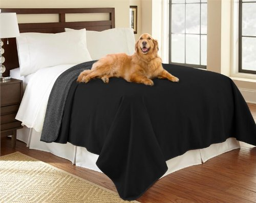 100% Waterproof Mambe Furniture Cover For Pets And People (Twin/Loveseat, Charcoal-Black) front-653602