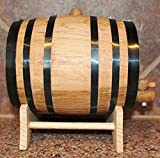 Personalized 2 Liter Oak Beverage Dispensing Barrel