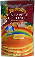 Hawaiian Sun Pineapple Coconut Pancake Mix 6-ounce Pack of 3