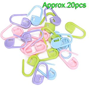 Approx. 20Pcs Knitting Crochet Locking Stitch Markers / Can Also Be Used as A Nappy Pin on A New Baby Greeting Card