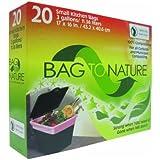 Bag-To-Nature Compostable Bag And Liner, 20 (3 gallon) bags