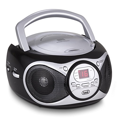 Trevi radioreg. cd 512 nero lettore cd, cd-r/rw, radio, display led,