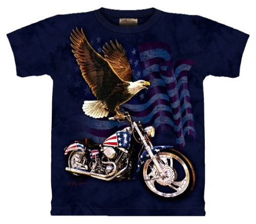 Born to Ride Eagle The Mountain Tee Shirt Adult M - XXXL SIZE: XL
