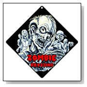 Zombies Crossing Wall Sign