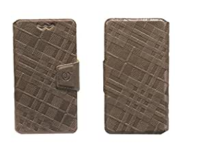 J Cover Nubuck Series Leather Pouch Flip Case With Silicon Holder For Samsung Galaxy Z Brown