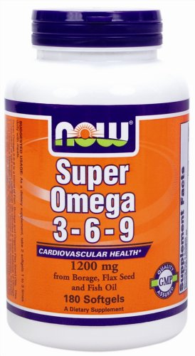 Now Foods: Super Omega 3-6-9 Cardiovascular Health 1200 Mg, 180 Sgels