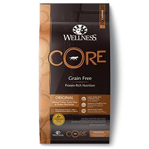 Wellness CORE Grain Free Original Turkey & Chicken Natural Dry Dog Food, 26-Pound Bag