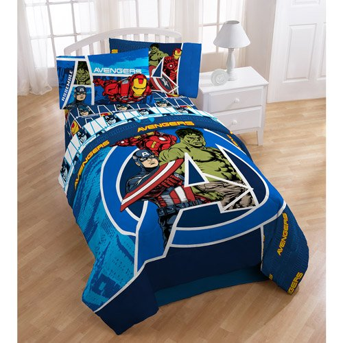 Marvel Comics Avengers Assemble Full Bed Sheet Set (Kids Full Beds compare prices)