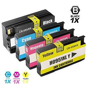 HP 950XL & 951XL Compatible Ink Cartridge 4-Pack Value Bundle