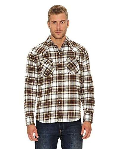 Levi's Camisa Barstow Marrón / Crema