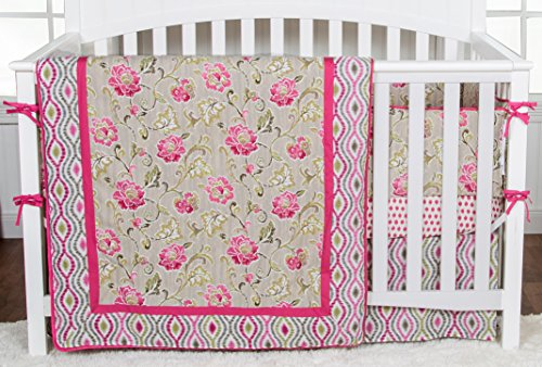 Trend Lab Waverly Jazzberry 3 Piece Crib Bedding Set