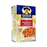 Quaker Instant Oatmeal Strawberries Cream 123 OZ 350g